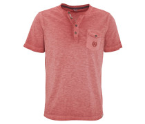 T-Shirt, Henley-Kragen, Brusttasche, Logo-Stickerei, Rot