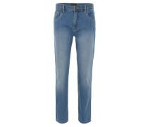 Jeans, gerader Schnitt, Waschung, Blau