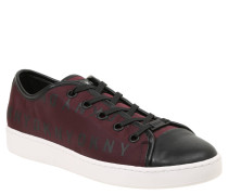"Sneaker ""Brayden"", Logo-Druck, Kontrast-Zehenkappe, Rot"