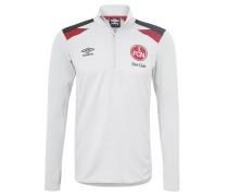 1. FC Nürnberg Sweatshirt, 2017/18, Reißverschluss, Weiß