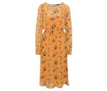 Kleid, florales Muster, transparent