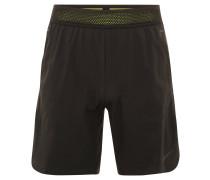 Sport-Shorts, lockerer Schnitt, Gummibungd, für Herren, Schwarz
