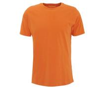 T-Shirt, Rundhalsausschnitt, reine Baumwolle, Orange