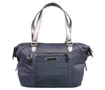 """Handtasche """"Art S"""", verstellbare Ecken, Leder-Details, Blau"""