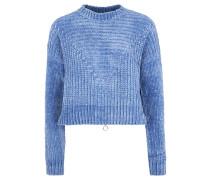 """Pullover """"Stella"""", Rippenstrick, Reißverschluss, Blau"""