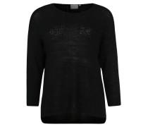 Pullover, Semitransparent, Große Größe, Schwarz