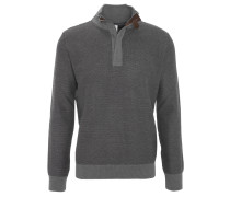 Pullover, Troyer, Grobstrick, Ellbogen-Patches, Grau
