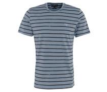"""T-Shirt """"Dalewood"""", Streifen-Design, Logo-Stickerei, Baumwolle, Blau"""