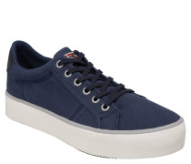 Sneaker low, Textil, Logo-Stickerei, Canvas, Blau