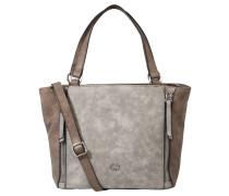 """Handtasche """"Breathe"""", Zierreißverschlüsse, Web-Optik, Grau"""