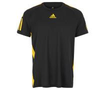 T-Shirt, atmungsaktiv, kühlend, für Herren, Schwarz