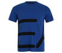 T-Shirt, Baumwolle, Logo-Print, für Herren, Blau