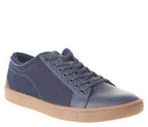 """Sneaker """"Sigrun"""", Leder-Besatz, Materialmix, Blau"""