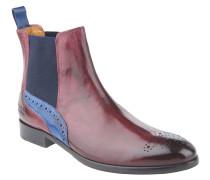 """Chelsea Boots """"Henry 10"""", Leder, Lochmuster, Rot"""