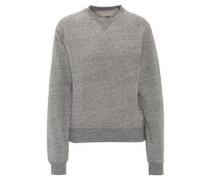Sweatshirt, meliert, Rippbündchen, Rundhalsausschnitt