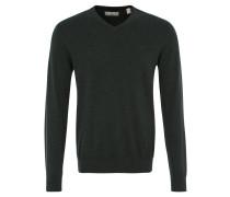 Pullover, Strick, V-Ausschnitt, reine Baumwolle, Grün