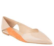 "Ballerinas ""Gwen"", Leder, Lack-Optik, spitz, Beige"