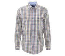 Hemd, kariert, Button-Down-Kragen, Gelb