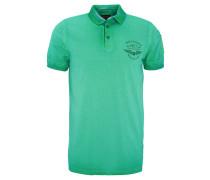 Poloshirt, Waschungen, Label-Print, Grün