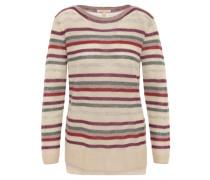 Pullover, grobmaschig, Seitenschlitze, Mehrfarbig