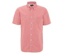 Freizeithemd, Modern Fit, Button-Down-Kragen, kariert, Rot