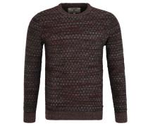 Pullover, wabenförmiges Strickmuster, reine Baumwolle, Grau