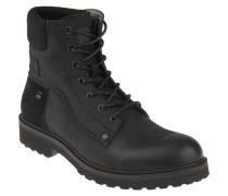 "Boots ""Carbur"", Material-Mix, einfarbiges Design, Schwarz"