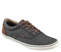 Sneaker, Denim-Optik, Lederimitat-Details