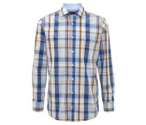Hemd, Comfort Fit, kariert, Brusttasche, Blau