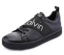 Sneaker mit großer Logo-Aufschrift, Schwarz