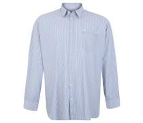 Freizeithemd, Kent-Kragen, Baumwolle, gestreift, Blau