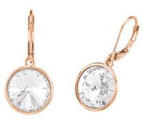 Ohrhänger mit Kristall, rosevergoldet