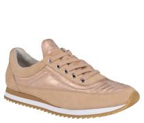 "Sneaker ""Aki 03"", Leder, Metallic-Look, Beige"