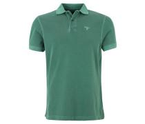 Poloshirt, Piqué, reine Baumwolle, Grün