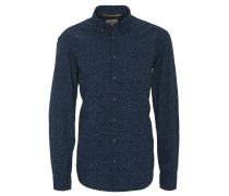 Freizeithemd, Regular Fit, florales Muster, Brusttasche, Blau