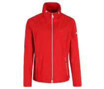 Jacke, wasserabweisend, Metall-Details, Rot
