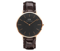 Classic Black Armbanduhr York, Rose Gold 40 mm DW00100128