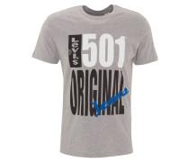 T-Shirt, Front-Print, Baumwolle, Grau