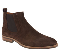 "Chelsea Boots ""D2285AYTON 4B"", Veloursleder, Reißverschluss, Braun"