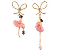 Ohrringe, RDD108T/2, asymmetrisch, Ballerina, Schleife
