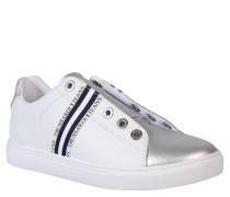 Sneaker, Leder, Gummiband, Bicolor
