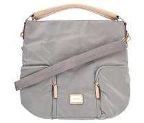 """Handtasche """"Aurum Alena"""", Reißverschlusstaschen, Emblem, Grau"""