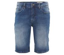Jeans-Shorts, Regular Fit, Knitter-Optik, helle Waschung, Blau