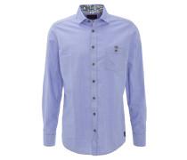 Hemd, Querstreifen,, Blau