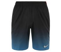 Shorts, schnelltrocknend, Farbverlauf, für Herren, Schwarz