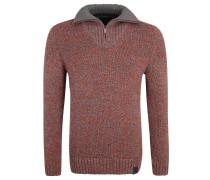 Pullover, Baumwolle, Klappkragen, Emblem, Mehrfarbig