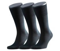Socken, Schurwolle, Baumwolle, 3er-Pack
