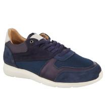 "Sneaker ""Novoli"", Leder, Mesh-Besatz, Klimaporen, Blau"