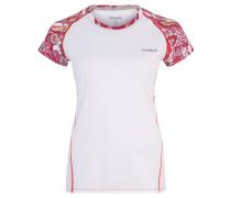 Trainingsshirt, Raglan-Ärmel, Mesh, für Damen, Weiß
