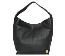 """Handtasche """"Ty-Ho"""", echtes Leder, eingeschnittene Details, Schwarz"""